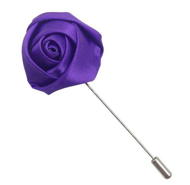 Mens coloré fleur broche épinglette mode boutonnière mariage Groomsman Eveving bouton bouton floral broches courtes K014