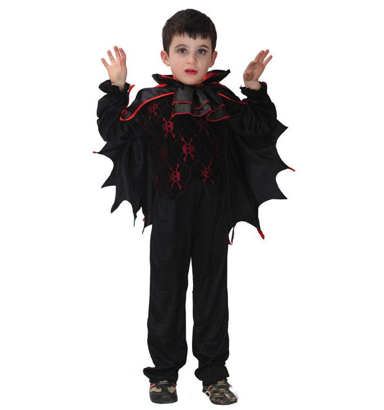 2018 Fashion Halloween Costumes Vampire Bat Cosplay For Children Girls Or Children Boys Demon