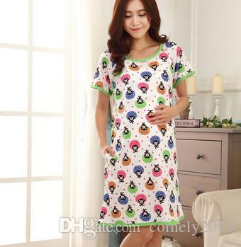 c533d39a6b66a Wholesale Hot Cotton Maternity Sleepwear Pregnant Women Pajamas ...