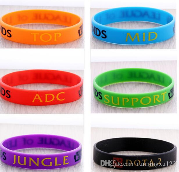 LOL Silicone Bracelets Wristband Hot LOL League of Legends Game Sport wristband Game Silicon Bracelet Wrist Band Bracelets D217