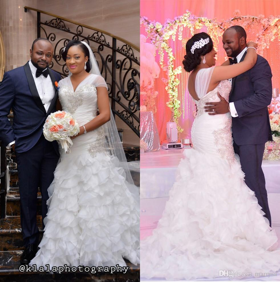 Bellanaija Weddings Ruffled Mermaid Bridal Gowns 2015 Aso