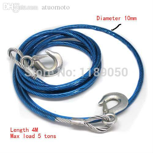 Wholesale-New Stainless Steel Car Tow Rope Strap Belt 4M Towing ...