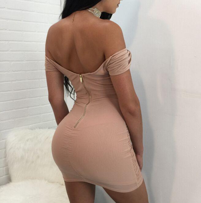 Las mujeres BodyCon vestidos V-cuello de vestir vendaje Diseño del partido de tarde vestido de la envoltura sin respaldo