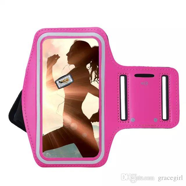 Para Iphone 6S 6 Plus I6 5 5C SE 5S 4G 4 4S Ipod Touch 4 5 6 Brazalete Funda Holder Bolsa Running Gym Sport Pounch Brazo Banda de ciclismo piel Lujo