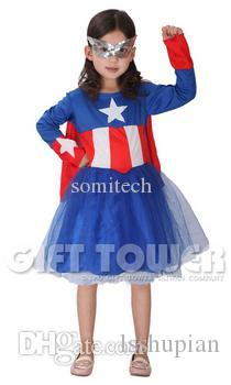 Wholesale Usa Woman Warrior Costumes Halloween Set Girls Larger Image