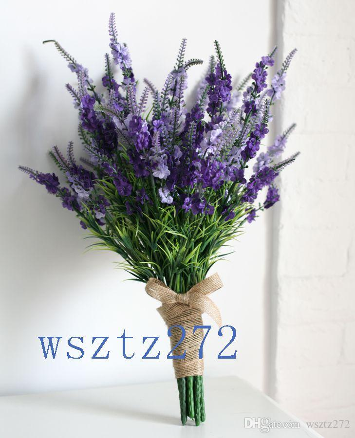 Romantic Wedding Bouquets Bridal Holding Flowers Lavender Purple