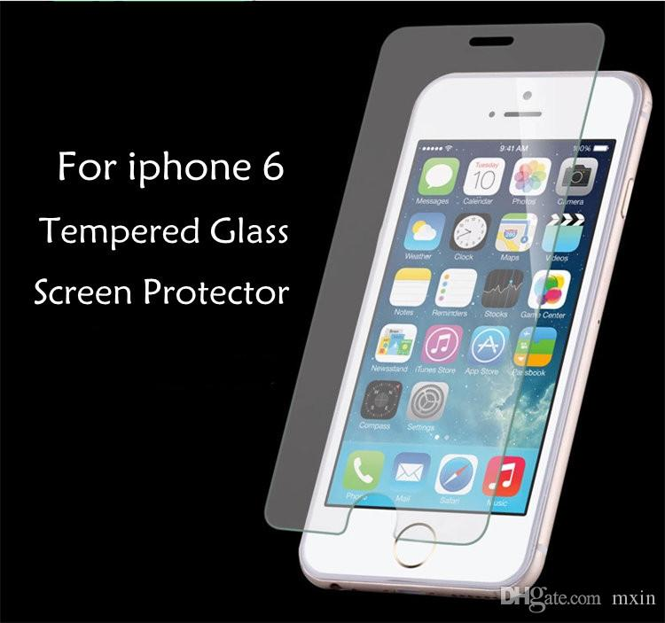 2.5D 9H Premium Tempered Glass Explosion Proof Film Guard Screen Protector for iPhone 4 4S 5 5S 5C 6 Plus 4.7 / 5.5 NO Retail Package