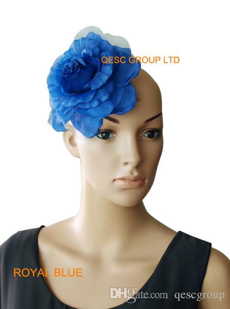 15 cm flor de seda suave para sinamay fascinator, sinamay sombreros y accesorios para el cabello, es, /