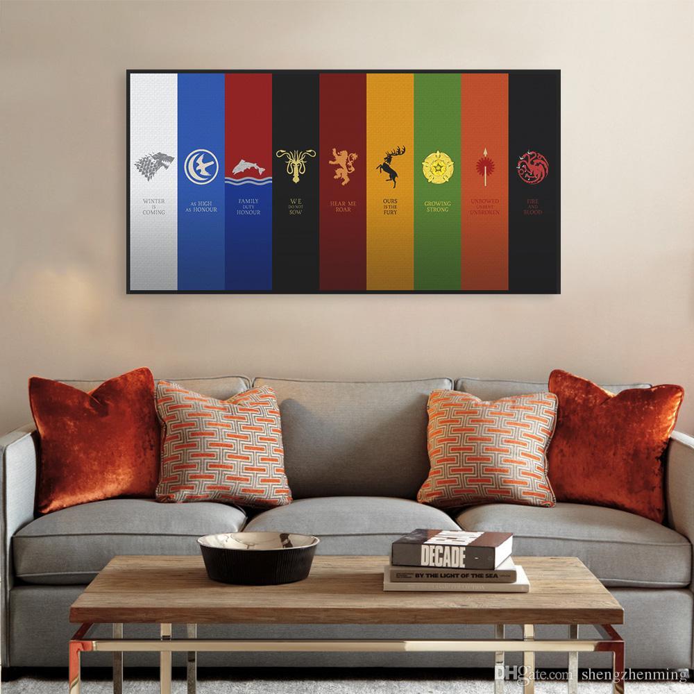 Satın Al Modern Pop Tv Film Kar Kral Oyunu Logo Bayrak A4 Büyük