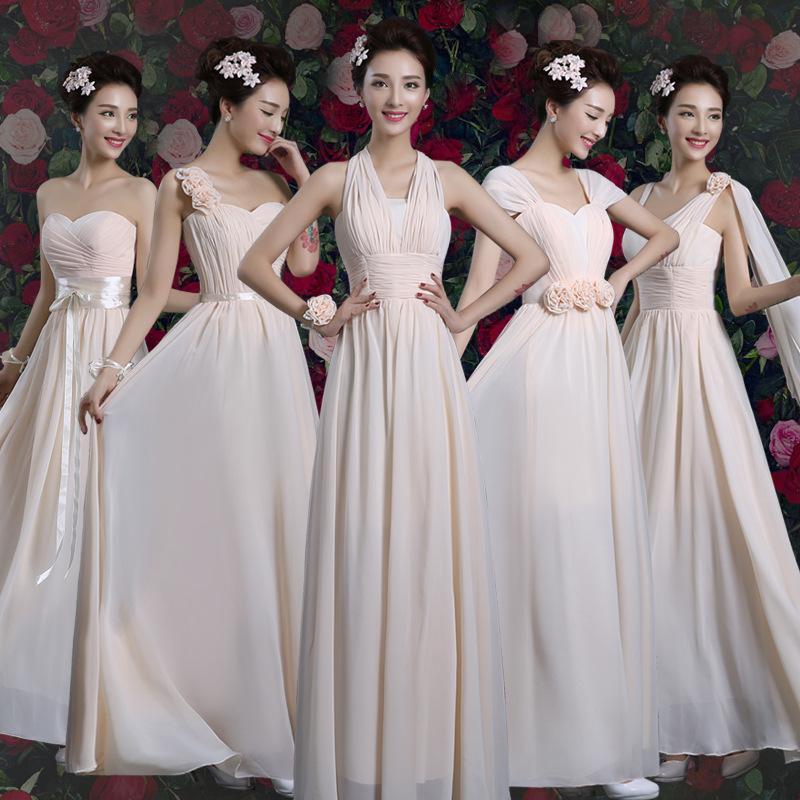 2016 Vestidos de dama de honor de encaje completo Vestidos de dama de honor de un hombro Vestidos largos del partido Vestidos formales