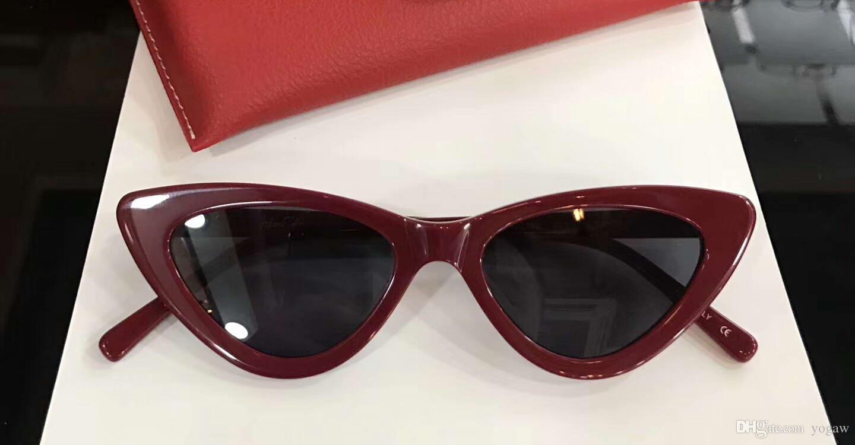 e938b1a9aa Compre Mujeres Ojo De Gato The Last Lolita Gafas De Sol Rojo Negro  Diseñador De Moda Marca Sunglass Eyewear New With Box A $56.35 Del Yogaw |  DHgate.Com