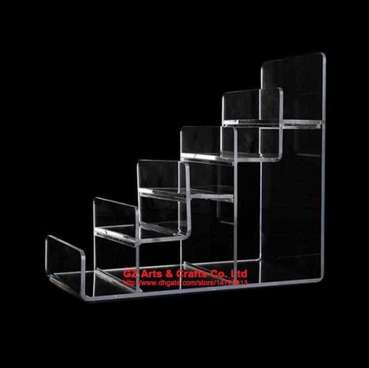 Klar Schwarz Multi Layer Acryl Regal Geldbörse Display Stand Handy Shell Rack Handtasche Halter