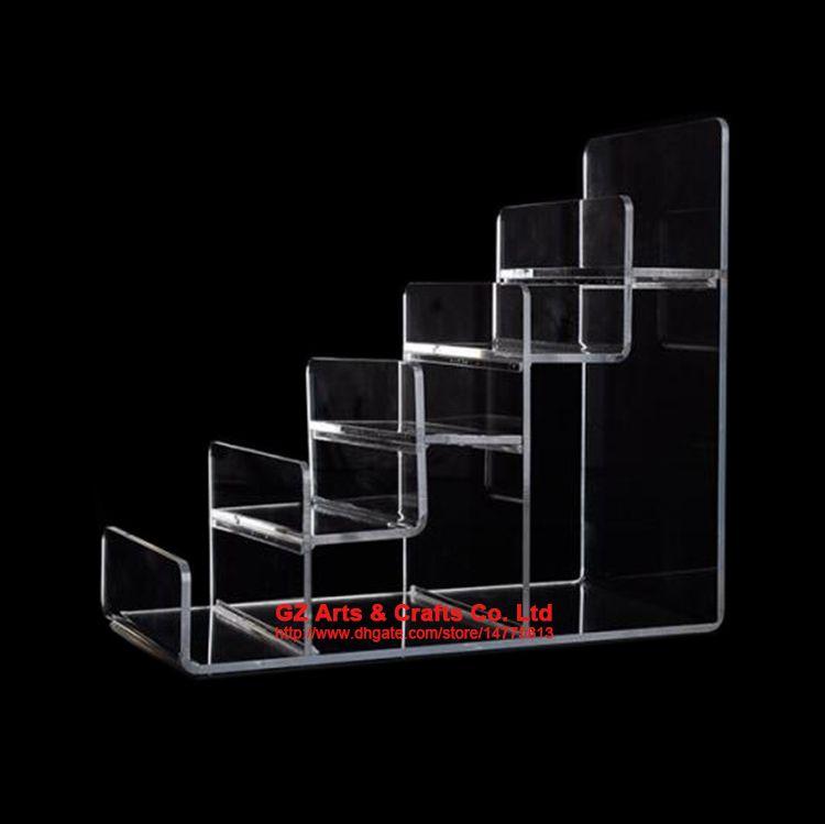 Reinforcement Clear Black Multi Layer Acrylic Shelf Wallet Purse Display Stand Mobile Phone Shell Rack Handbag Holder