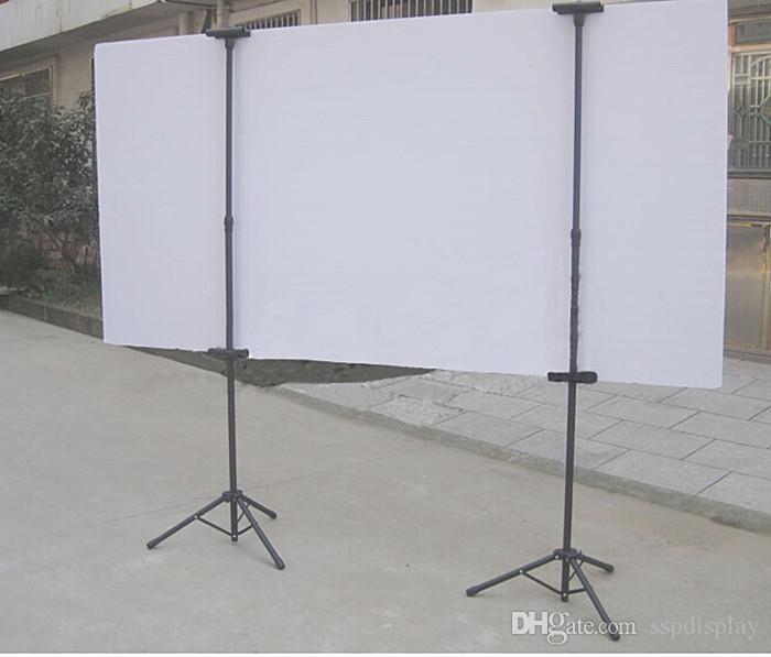 Поп металлический штатив Bedframe висит баннер вверх дисплей телескопический держатель плакат стенд поверхности выпечки тусклый польский 2 компл. хорошая упаковка