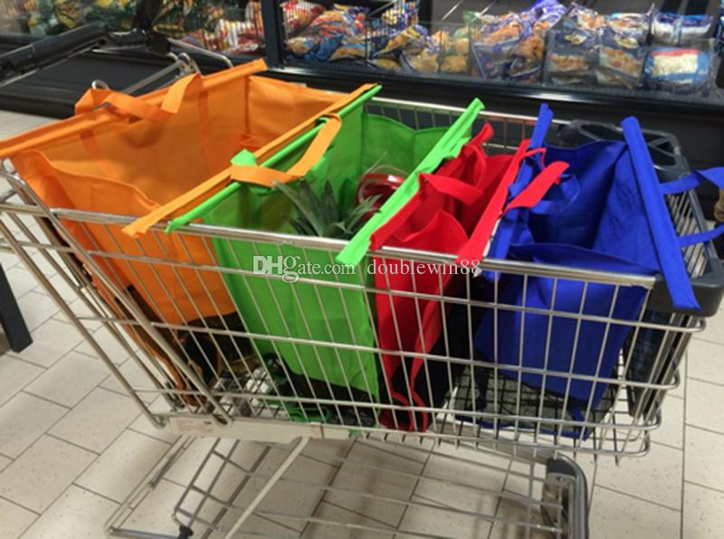 4 shopping trolley bags foldable cart folding grocery reusable supermarket carry bag discount. Black Bedroom Furniture Sets. Home Design Ideas