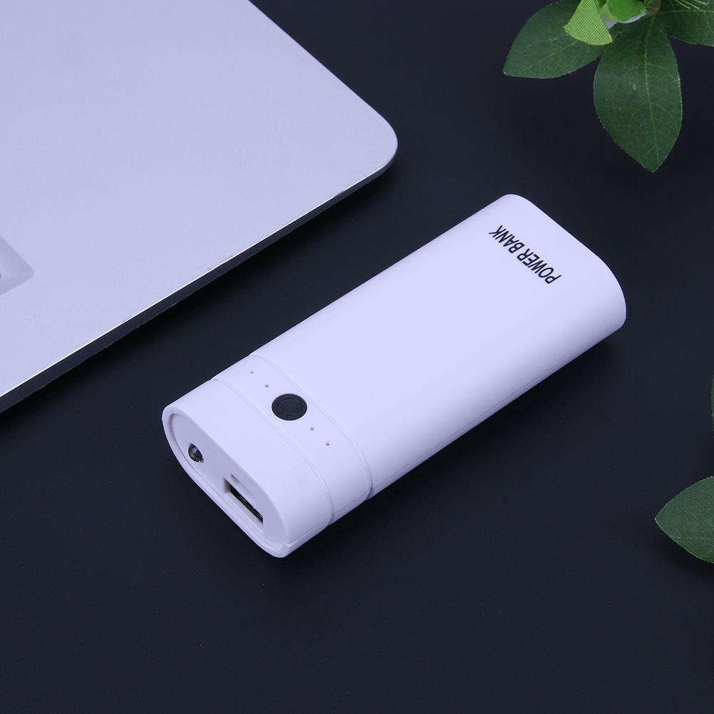 Mini Portable Powerbank Box 2x18650 Battery Power Supply Aluminum Alloy Travel Power Bank DIY Solderless Case with LED Indicator