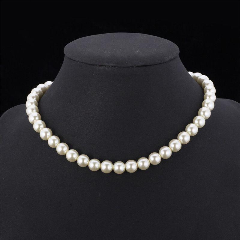 Sintetico di alta qualità collana di perle le donne 2015 Nuovo Trendy ridimensionabile lusso collana in rilievo bianco / nero