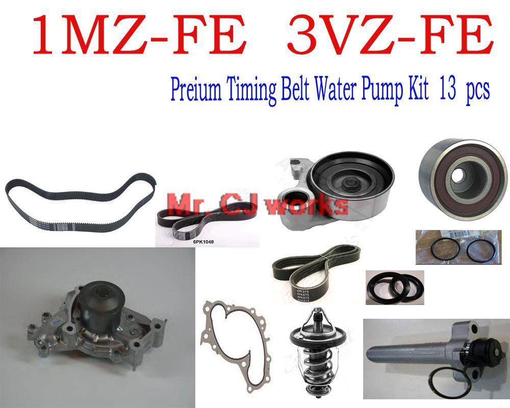 Timing belt water pump kit 3 0 1mz fe 3vz fe 1mzfe 3vzfe for toyota lexus camry avalon solara es300 rx300 sienna oem