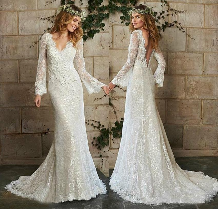 vintage wedding dresses cheap vintage mermaid sleeves lace wedding dress 2015 8318