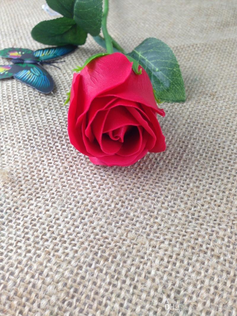 هدية عيد الحب حمام الجسم روز بتلة زهرة الصابون مثالية كما تفضل الزفاف / هدايا عيد الميلاد أو زخرفة 6 ألوان زهرة روز الصابون الساخن