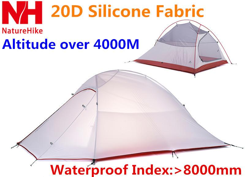 See larger image  sc 1 st  DHgate.com & Only 1240g Naturehike Outdoor Tent 2 Person Tent 20d Silicone ...
