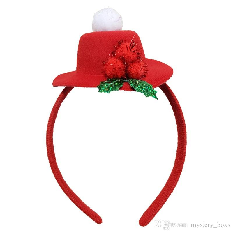 2018 european and american childrens christmas gifts high top hat red christmas headband party supplies christmas decorations wholesale from mystery_boxs
