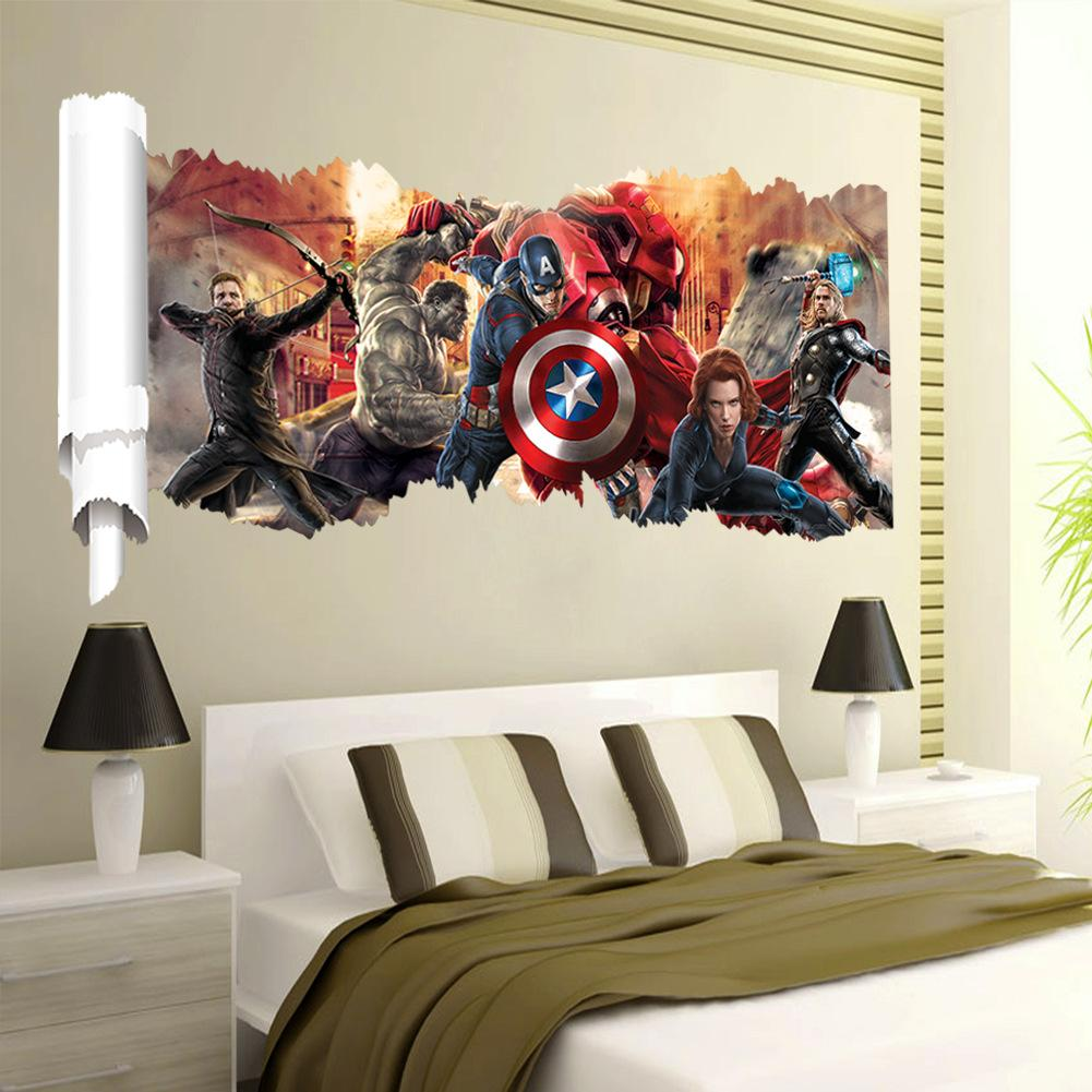 Movie The Avengers Removable Pvc Wall Sticker Decals Nursery Room