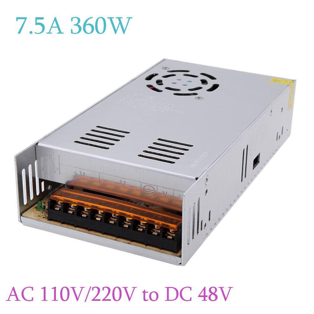 2018 Ac 110v/220v To Dc 48v 7.5a 360w Led Strip Light Power Switch ...
