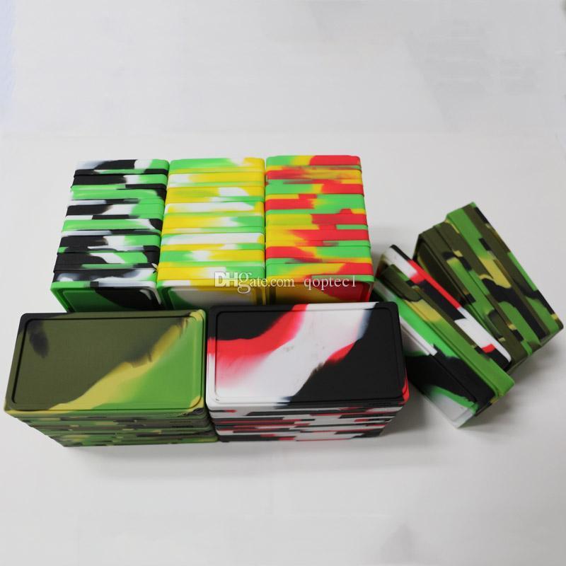 Plat 1 + 1 contenants de silicone concentrés tampons de cire silicone contenants alimentaires réutilisables huile de cire contenant de silicone tenue d'herbes sèches