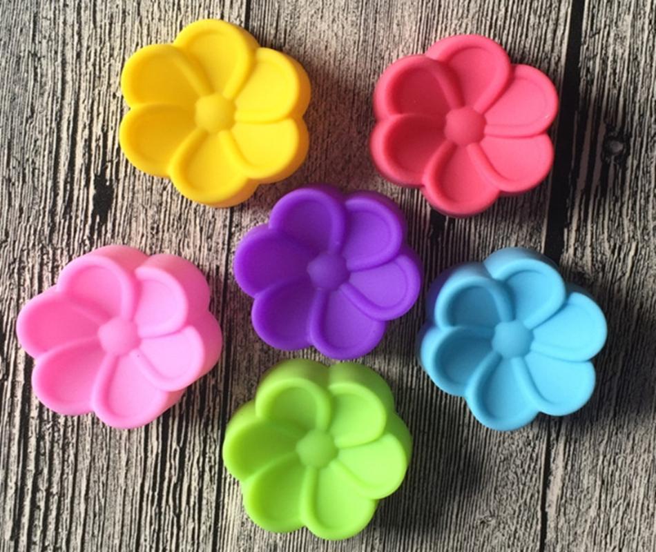 200 шт./лот 5 см Бегония цветы Shaped силиконовые формы DIY мыло для рук плесень силиконовые торт плесень помадной торт украшения инструменты