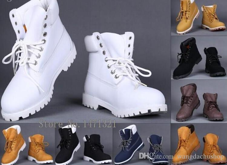 Cheap Leisure Ankle Boots Winter White Snow Boots Brand Men Women ...