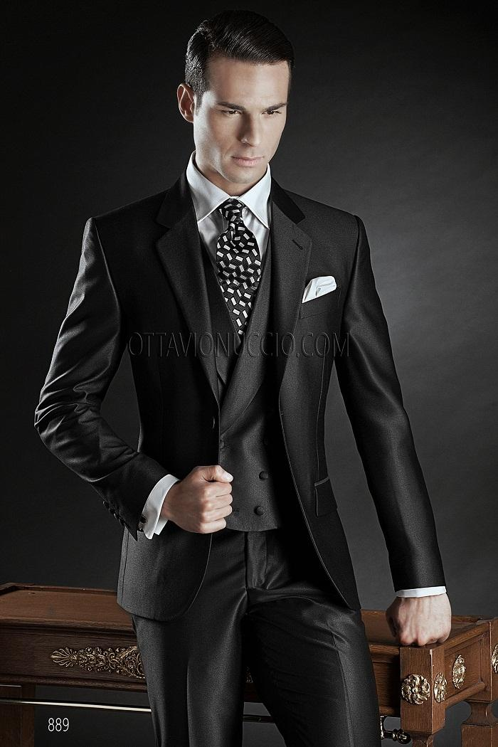 Classic Black Wedding Suits For Men 2015 Italian Design Men Suits ...
