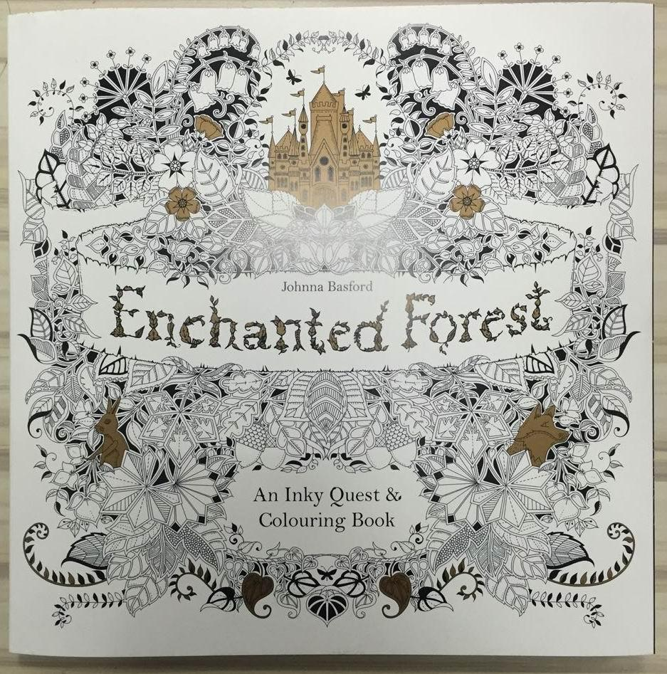 Wholesale Enchanted Forest English Edition Coloring Books For Children Adult Relieve Stress A Book Make People Rich Imagination Virtual