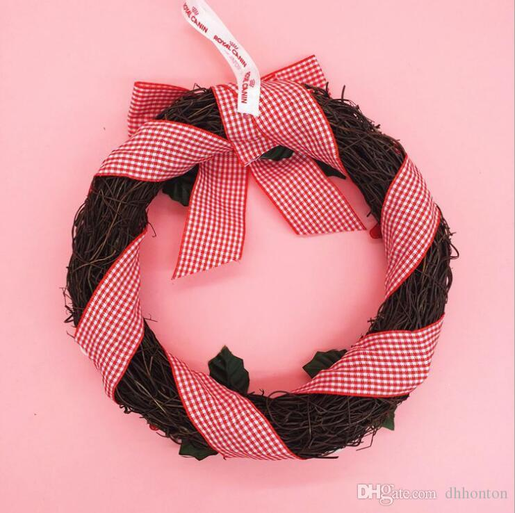 "pine garland Christmas decorations sale wholesale 25cm/9.8"" christmas decorative flower wreath Christmas Garland Gift garland christmas CG04"