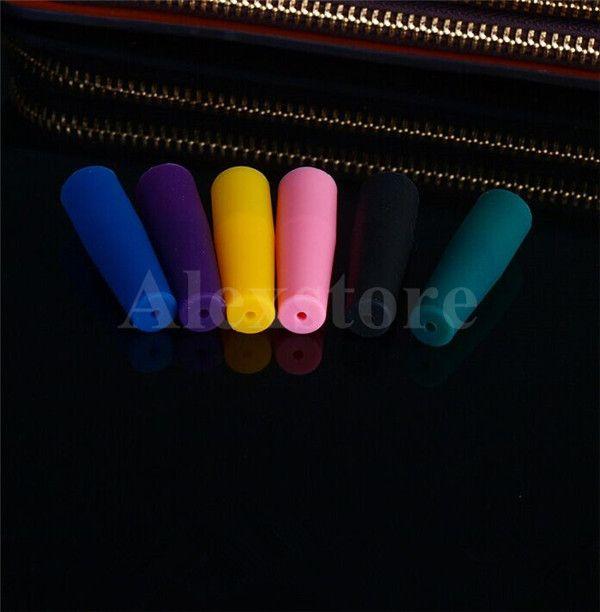 Silicone Embout buccal Drip Tip Jetable Coloré Silicon test capuchons en caoutchouc long Conseils de testeur Testeur Cap 510 ego driptip pour e cig DHL