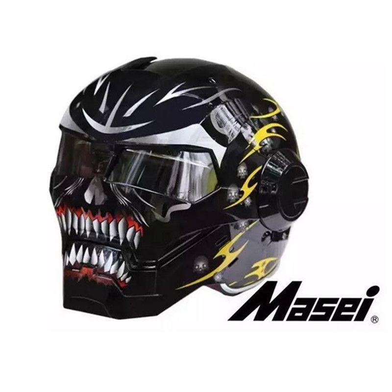 Acheter En Gros Livraison Gratuite Casco Moto Capcetes Masei Iron