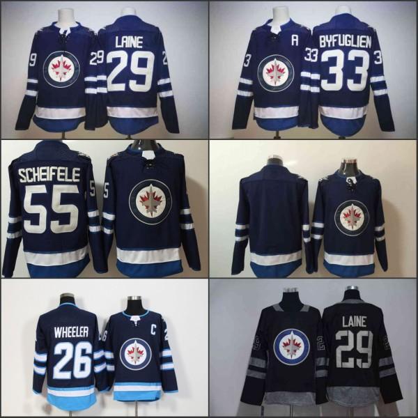 ... cheapest 2018 winnipeg jets hockey jersey 55 mark scheifele 29 patrik  laine 26 blake wheeler 33 e791d487c