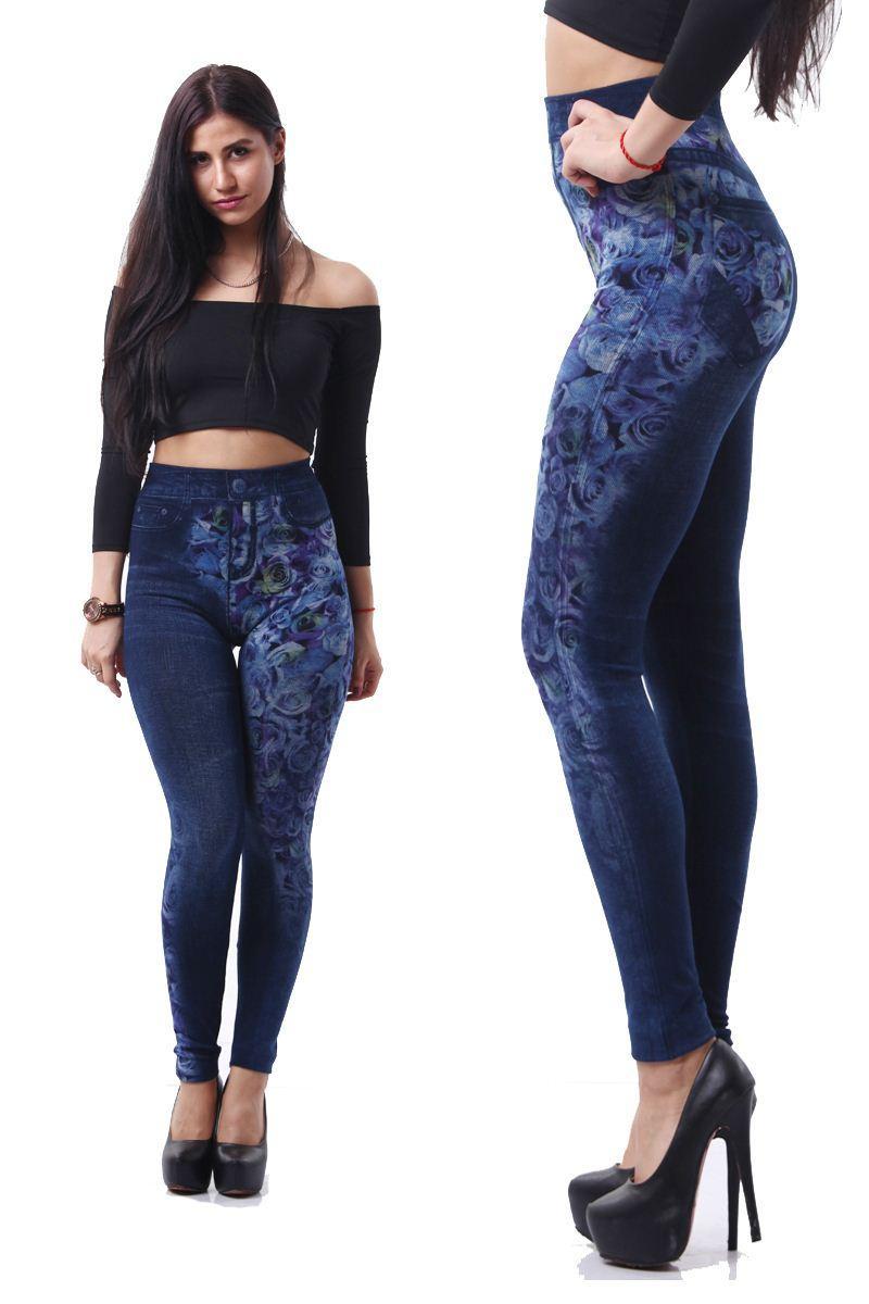 2017 Winter Knitted Jeans Leggings Girl Plus Size Jeans Women ...