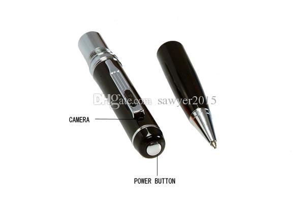 Professionale 1080P HD Mini Penna Telecamera Rilevamento del movimento Penna Mini DV DVR Digital Voice Video Recorder Mini Camcorder Argento / Golden