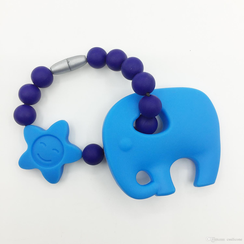 Tandjes siliconen olifant speelgoed lus armband kralen kettingen