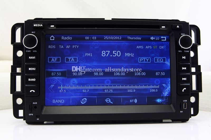 Car DVD Player GPS Navigation for GMC Yukon Tahoe Acadia with Radio Bluetooth TV USB SD AUX Map Auto Audio Video Navigator