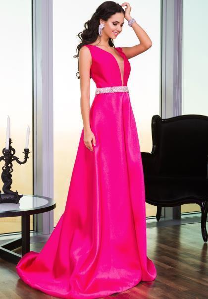 Грейс бисером вечерние платья V-образным вырезом без рукавов линии развертки поезд Vestidos де Фест элегантные платья выпускного вечера