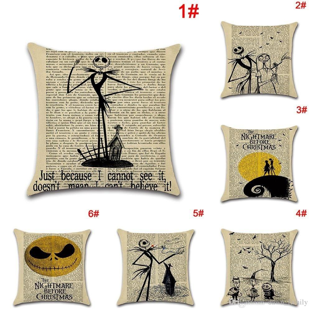 fashion car sofa decor throw cushion cover nightmare before