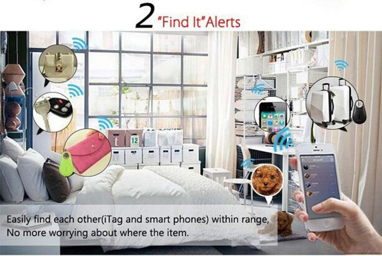 smart keys finder bluetooth 4.0 tracer child bag locator tag anti-lost alarm wallet pet dog selfie for IOS Android security alarm system