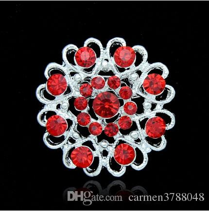 Christmas Rhinestone brooches love heart hollow crystal brooches silver plate pearl pins round hollow forever love
