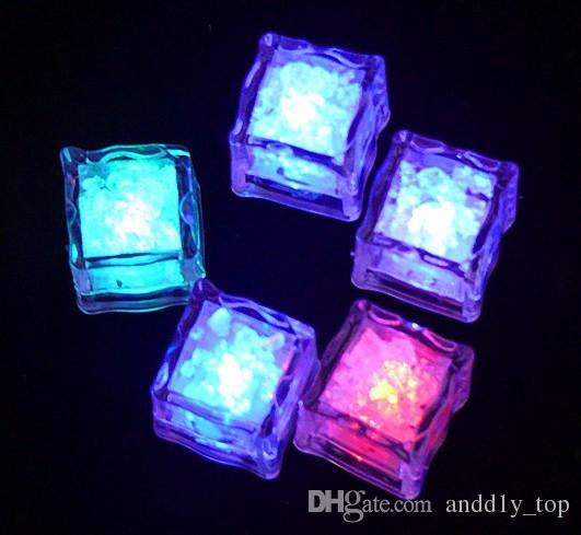 Multi LED Cor Mudando Flash de Luz Cubo De Cristal De Gelo para Barras de Eventos de Festa de Casamento Chirstmas Multi Color
