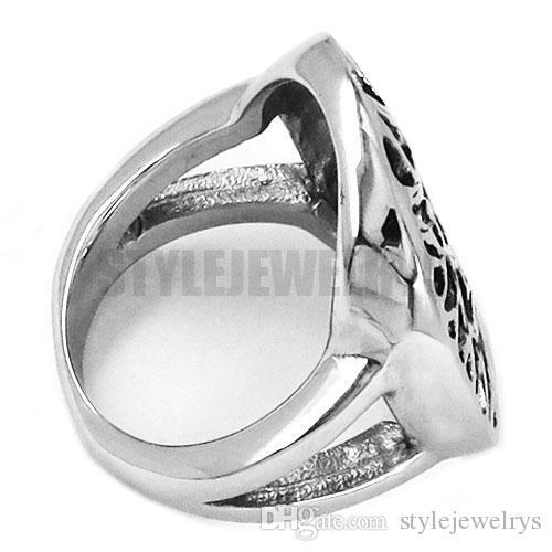 Бесплатная доставка! Claddagh стиль жизни дерево кольцо из нержавеющей стали ювелирные изделия мода кельтский узел мотор байкер кольцо Мужчины Женщины SWR0418