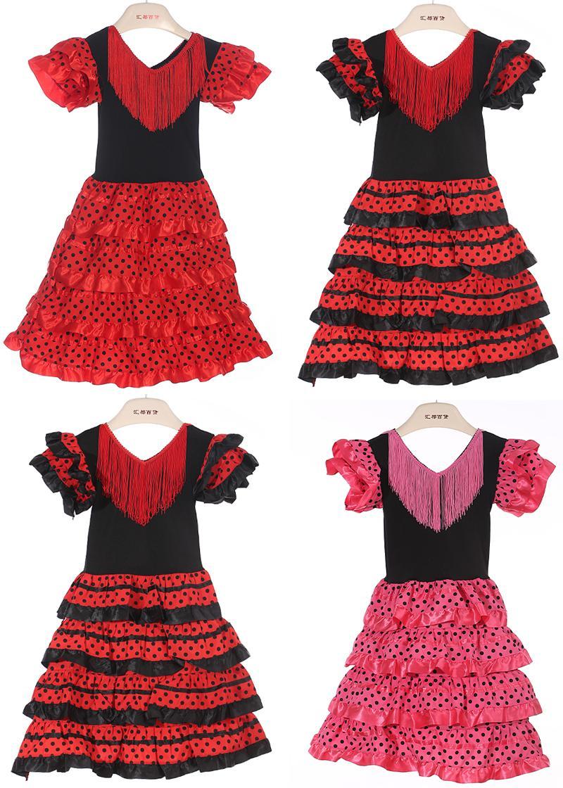 ebc2e8773 2019 New Girls Dress Beautiful Spanish Flamenco Dance Dress Flamenco Dress  Size;2,4,6,8,10 Size U Pick From Boutiquehat2010, $12.07 | DHgate.Com