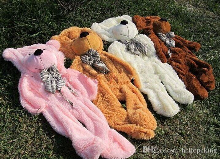 New Giant 80CM big cute light brown brown white pink plush teddy bear huge soft bear ONLY COVER