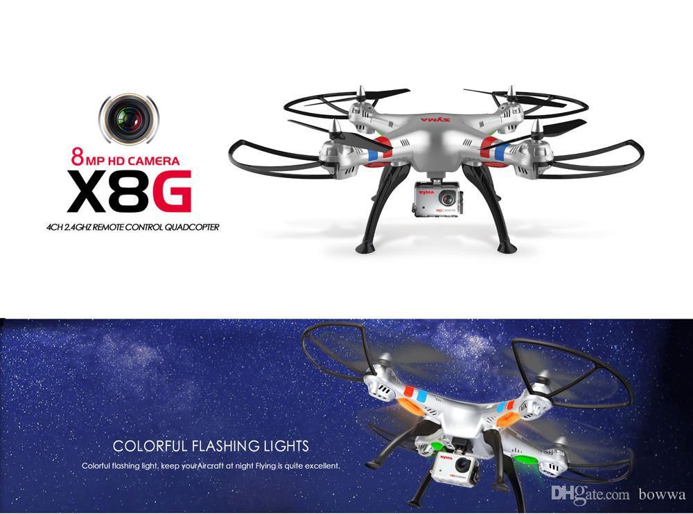 Original syma x8g 2.4g 6 achsen gyro 4ch rc quadcopter headless modus professionelle drohnen mit 5mp kamera hubschrauber hubschrauber